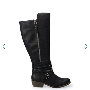 SO redpoll women's knee high boots new in box